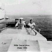 Aboard H.M.S. Dorsetshire