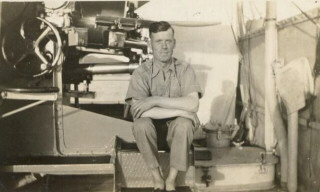 Leonard Holsworth aboard HMS Hood