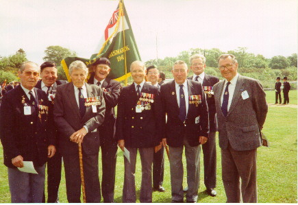 Veterans at Boldre church in late 1980s or early 1990s
