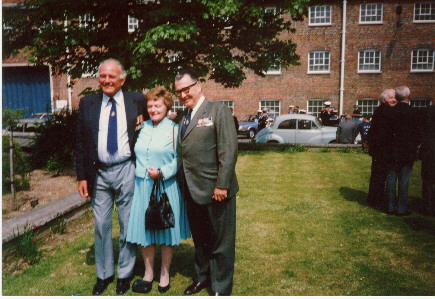 Bob and Mary Tilburn with Ted Briggs circa 1986