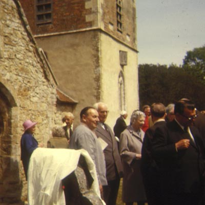 Hood veterans outside Boldre church