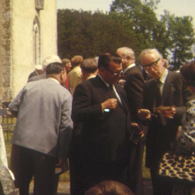 Ted Briggs outside Boldre Church