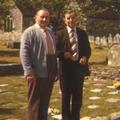 Ken Clark and Den Finden at Boldre church