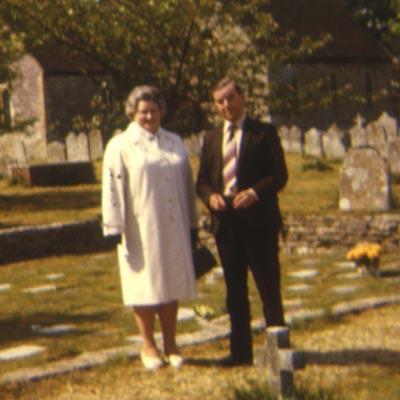 Mr and Mrs Den Finden at Boldre church