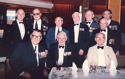 Ted Briggs with veterans of H.M.S. Electra, May 1986