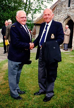 George Donnelly and Harry Purdue at Boldre, 1988