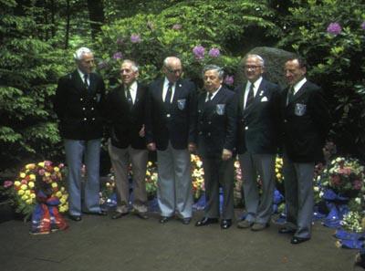 Bismarck veterans at the Bismarck memorial