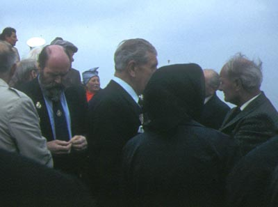 A group gathered for a memorial service at Kieler Foerde