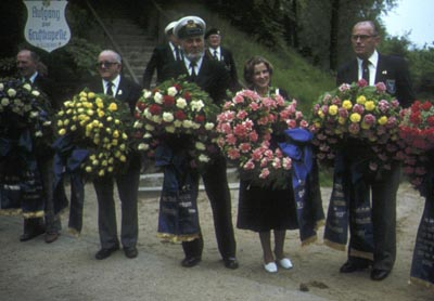 Germans holding wreaths