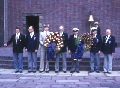 German veterans and associates at Laboe