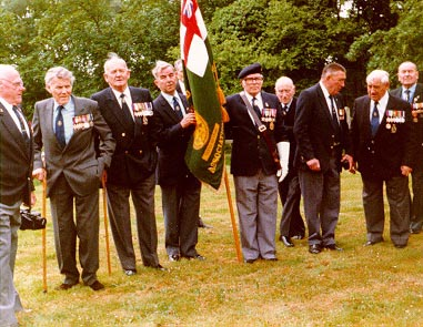 Veterans at Boldre church in 1988