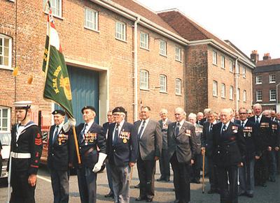 Hood parade at Pompey dockyard, May 1989