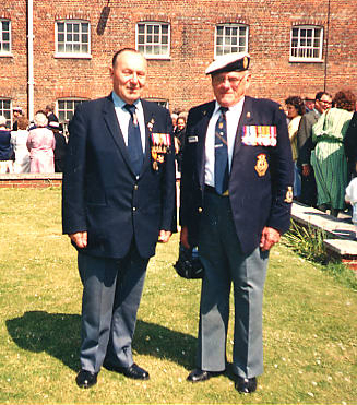 Ken Clark (left) and George Donnelly (right), May 1988