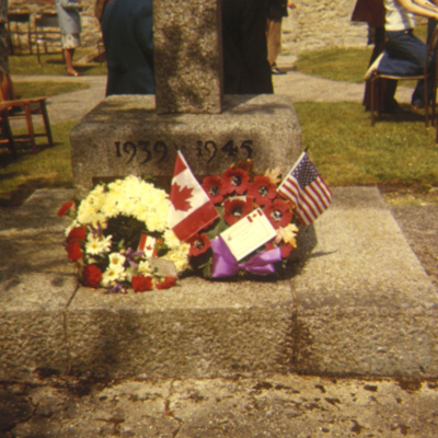 Wreaths on the war memorial at Boldre Church