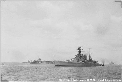 Hood off Torbay in 1934