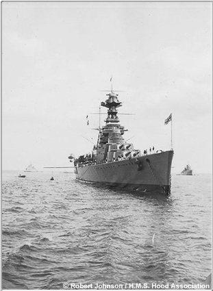 Hood at anchor off Torbay, 1934