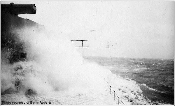 Hood in rough seas circa 1931 or 1932