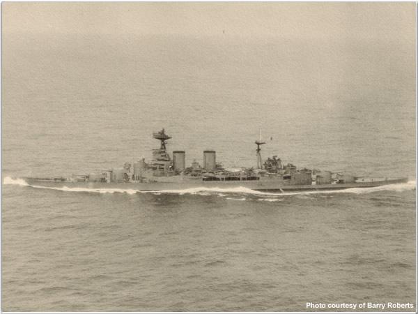 Hood enroute to intercept Bismarck, 22 May 1941