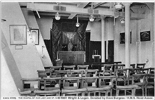 H.M.S. Hood's chapel, circa 1931