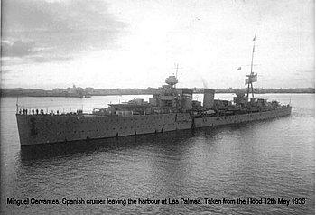 Spanish warship Miguel Cervantes