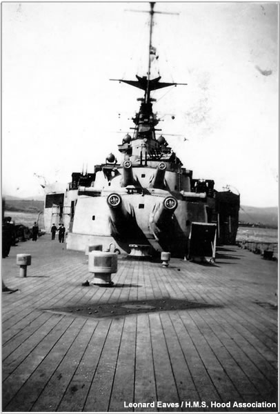 A view from Hood's quarterdeck, 1940