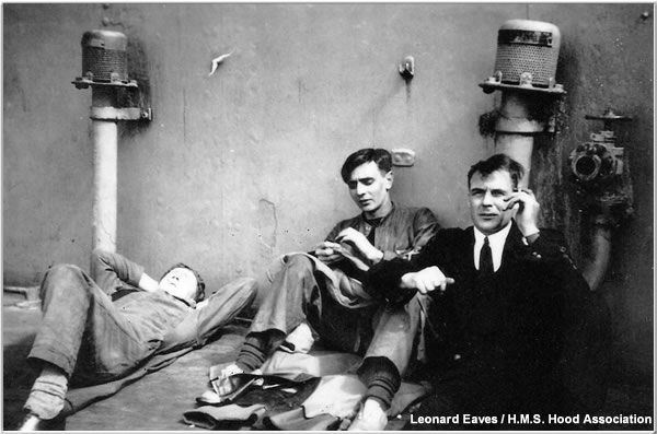 Friends relaxing while they can, circa 1940 or 1941