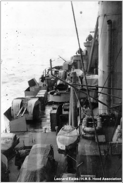 Hood's starboard Shelter Deck, late 1940 or early 1941