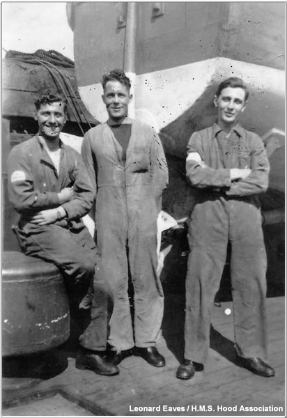 Crew posing on the Boat Deck, 1940 or 1941