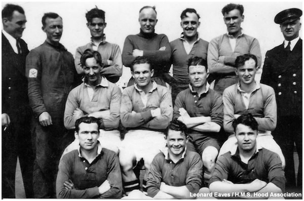 Hood's rugby or football team circa 1940