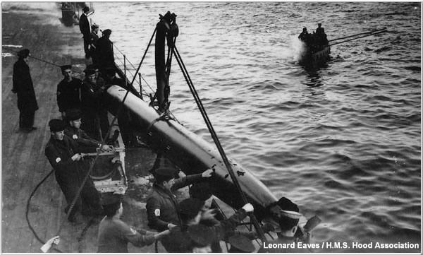 Retrieving a torpedo following a practice fire