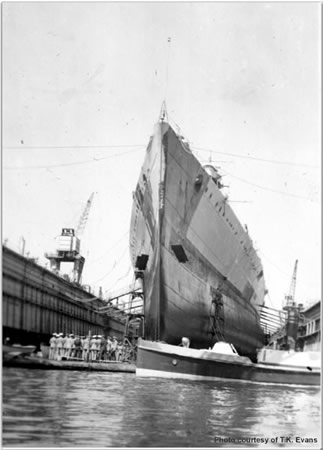 Hood in the floating drydock