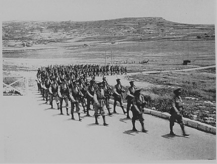 Marching into camp after an 18 mile march, 21 May 1938