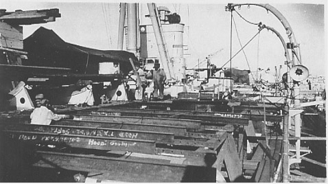 Hood in the Malta drydock undergoing refits, Nov 1937
