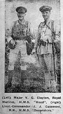 Major Clayton and LtCdr Casement