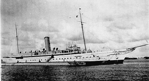 The Royal Yacht in Alexandria Harbour