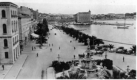Seafront of Split, Yugoslavia, Sept 1937