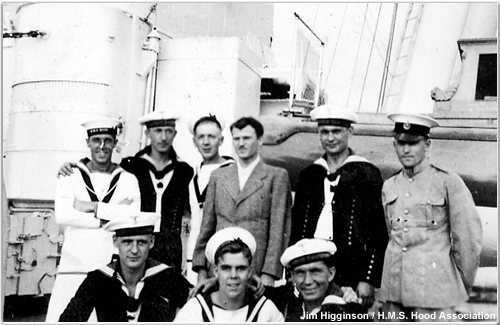 German sailors aboard Hood