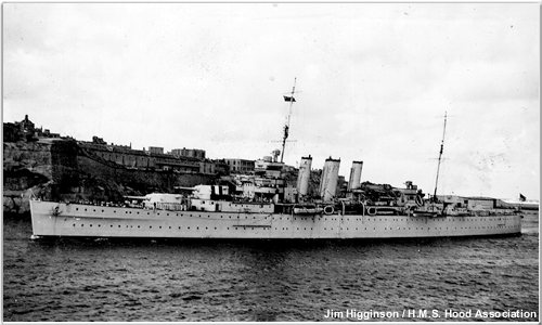 British cruiser Shropshire or London