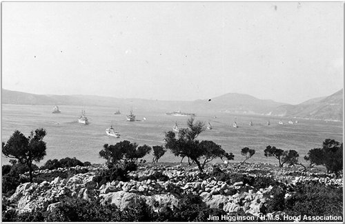 The fleet at anchor off Argostoli