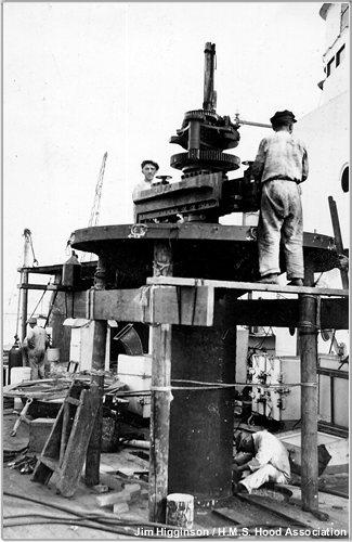 0.5 inch machine gun pedestal being added