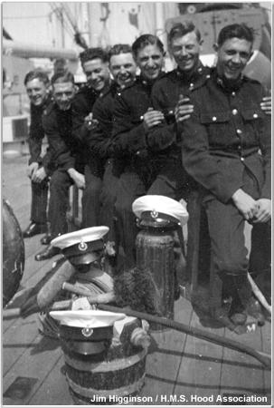 Marines aboard Hood