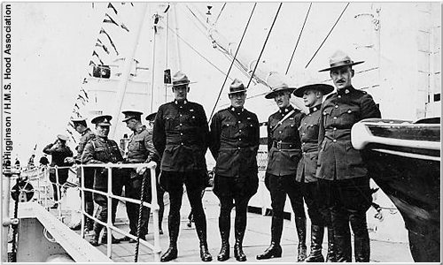 Royal Canadian Mounties aboard Hood, 1937