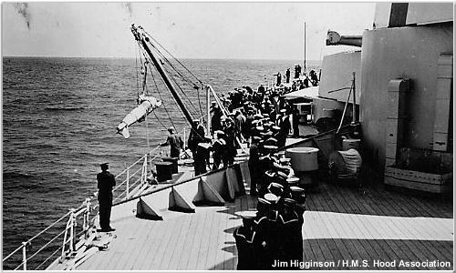 Paravanes being hoisted aboard
