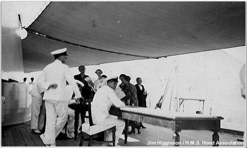Spanish refugees aboard Hood