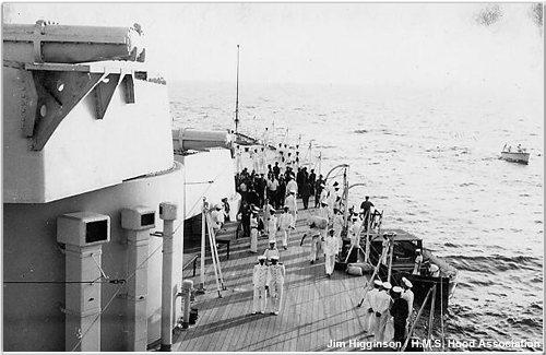 Refugees aboard Hood