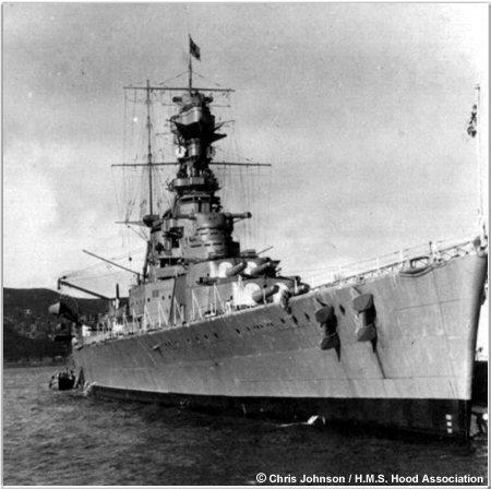 H.M.S. Hood docked in New Zealand, 1924