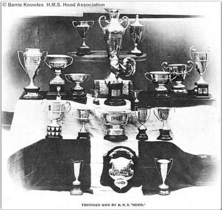 Tropies won by H.M.S. Hood circa 1926 or 1927