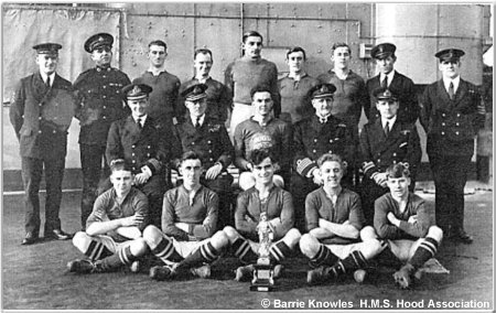 H.M.S. Hood football/soccer team, 1927 or 1928