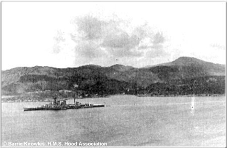 H.M.S. Hood at Gairloch, 1927