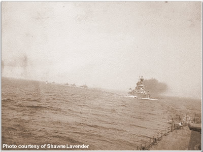 Hood leading Tiger &amp; destroyers in to Kalmer, Sweden, June 1920